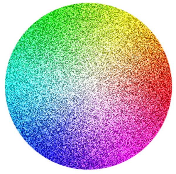 Color wheel with dither